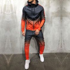 Check out this dope tracksuit!🔥Search on the site. Mode Man, Style Japonais, Next Clothes, Outfit Combinations, Dip Dye, Blue Sweaters, Yellow Sweater, Sweater Hoodie, Swagg