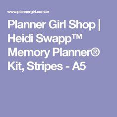 Planner Girl Shop | Heidi Swapp™ Memory Planner® Kit, Stripes - A5