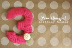 Yarn wrapped number