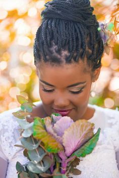 Bride with braids #township-style#south-africa#capetown