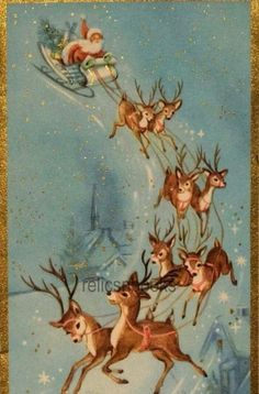 Old Time Christmas, Old Fashioned Christmas, Christmas Past, Vintage Christmas Cards, Christmas Images, Vintage Cards, Xmas, Vintage Pictures, Vintage Images