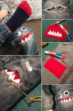 Monstermäßige Jeans für Kids