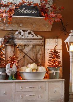 I like the orange lights on the Christmas trees