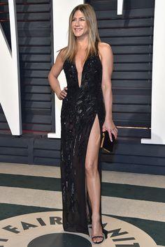 Jennifer Aniston in Atelier Versace at Vanity Fair 2017, Дженнифер Энистон в Atelier Versace Vanity Fair 2017