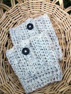 Arranque calcetines de lana arranque puños crema por BlueBayCrochet