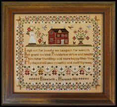 LITTLE HOUSE NEEDLEWORKS - The Elisabeth Hancock Sampler - LE COMPTOIR DES FEES