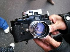 TCS Flashback: 11/28/10 Shinjuku Black Paint* Leica M3 with MR-4 Meter, 50mm f.2 Summicron, and Gin-Ichi rewind crank accessory. *repainted, of course.