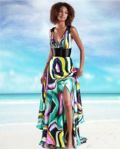 vestidos longos estampados de seda 1
