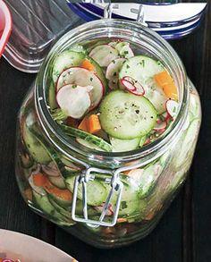 Recipe for Lemony Cucumber Salad - Don't forget that something fresh, vibrant…