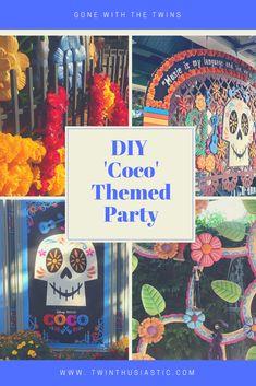 DIY Disney Pixar Coco- Themed Party Ideas - Gone with the twins 4th Birthday Parties, Birthday Party Decorations, Halloween Decorations, Halloween Party, Themed Parties, Disney Diy, Disney Crafts, Disney Pixar, Disney Theme