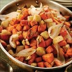 Balsamic Roasted Parsnips and Sweet Potatoes