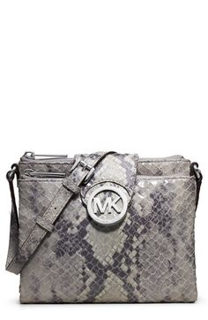 MICHAEL Michael Kors 'Large' Leather Crossbody Bag available at #Nordstrom