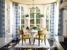 Beautiful patterned curtains