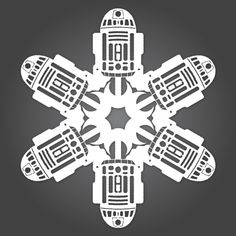 Paper Snowflake Templates from the Official Star Wars Blog