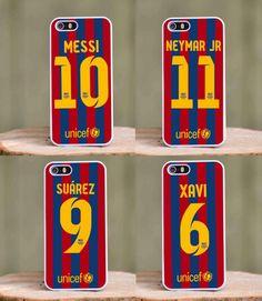BARCELONA FC Messi Suarez Neymar Xavi iPhone case for 4 4s 5 5s 5c 6