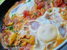 Risultati immagini per shakshuka verde Mashed Potatoes, Cooking, Ethnic Recipes, Kochen, Brewing, Shredded Potatoes