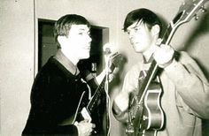 foreverneilyoung:  Neil and friend in 1965