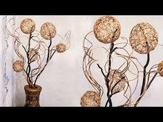 Diy Quick and Easy Glam Wall Mirror Decor Bottle Art, Bottle Crafts, Flower Vases, Flower Arrangements, Diy Paper, Paper Crafts, Easy Crafts, Diy And Crafts, Flower Tutorial
