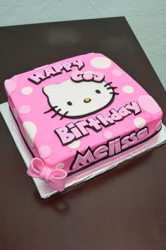 Hello Kitty cake - thought of Ms. Kylie when I saw this @Jodi Wissing Groves :)