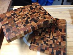 end grain cutting board maple walnut and cherry by MCBwoodworks, $90.00