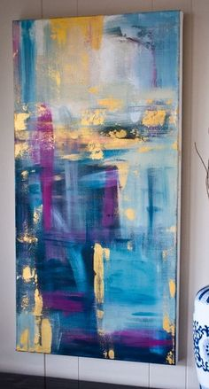 Abstract Painting Techniques, Abstract Art, Diy Painting, Painting Inspiration, Modern Art, Artwork, Paintings, Projects, House
