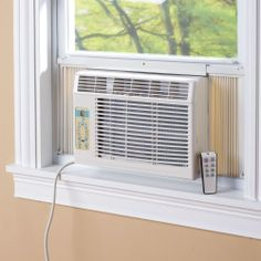 705dcc04dd The Slim Profile Air Conditioner - Hammacher Schlemmer Hammacher Schlemmer