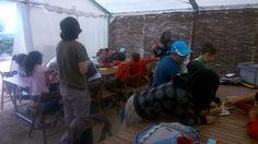 Visitantes de los Campamentos de Verano de La Casa Encendida, de Fundación Caja Madrid.