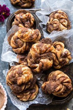 Easiest cinnamon crunch knots quickeasydinners easiest cinnamon crunch knots halfbakedharvest comm quick easy recipe brunch miracle no knead bread Cinnamon Crunch, Cinnamon Rolls, Cinnamon Recipes, Cinnamon Bagels, Cinnamon Pull Apart Bread, Cinnamon Desserts, Cinnamon Twists, Cinnamon Swirl Bread, Half Baked Harvest