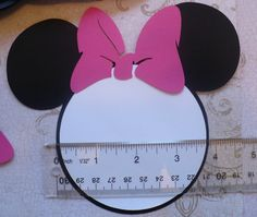 25 Black Minnie Mouse Head Shapes White by sandylynnbscrapping