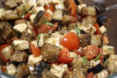 Panzanella with Lioni Mozzarella and Sullivan Street Bakery Ciabatta