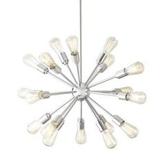 Style Selections 18-Light Brushed Nickel Chandelier. kitchen but in bronze