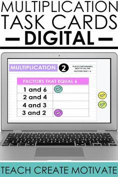 Multiplication Facts Practice, Math Fact Practice, Math Vocabulary, Math Facts, Math Classroom, Google Classroom, Classroom Organization, Teacher Resources, Classroom Resources