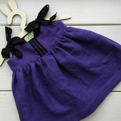 Linen Baby Lilaс Dress On The Straps | Etsy | MaryLinen