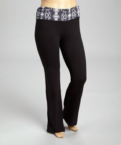 Look what I found on #zulily! Gray Snake Yoga Pants - Plus by 90 Degrees #zulilyfinds