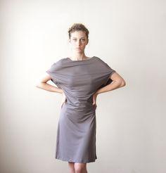 Gray Summer Dress Short Sleeved Dress by CIPORKIN on Etsy. $56.00 USD, via Etsy.