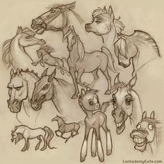 horse drawing tumblr - Szukaj w Google