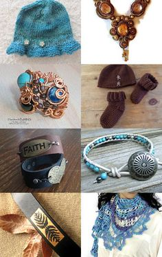 Turquoise and Browns by Chizuko Takahashi on Etsy--Pinned with TreasuryPin.com