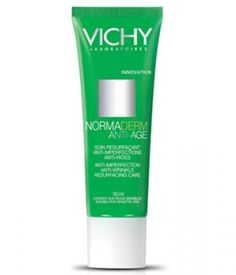 Fights aging and acne-prone skin with glycolic acid, LHA, and vitamin Cg.  Vichy Normaderm Anti-Aging $25 ********************************************************************************************************************