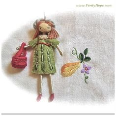 Embroidery and needlework dolls by verity hope