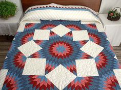 Broken Star Quilt -- marvelous well made Amish Quilts from Lancaster (hs2743)