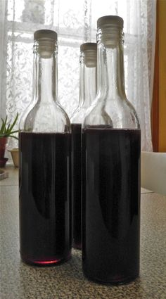 Homemade Blueberry Liqueur