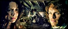 Jamie and Claire #Outlander @samheughan @caitrionambalfe