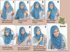 Hijab Tutorial Segiempat Paris Simple Style ^_^