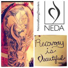 Eating Disorder Recovery Tattoo #halfsleeve #NEDA #tattoo
