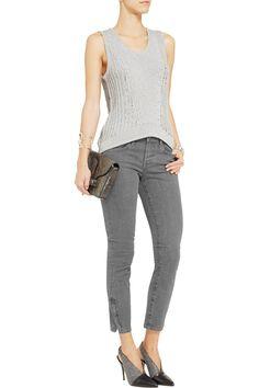 Helmut LangLow-rise cropped vintage skinny jeans