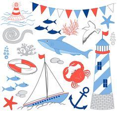 Scrapbooks, crafts, printables, sea