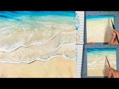 Ocean Water in Watercolors Painting Demonstration - YouTube