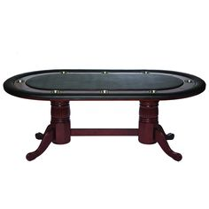 "RAM Gameroom 84"" Texas Hold'Em Game Table With Dining Top in English Tudor"