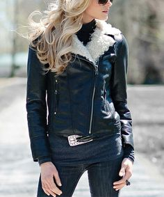 Look what I found on #zulily! Black Urbanista Moto Jacket - Women & Plus by Donna Salyers' Fabulous-Furs #zulilyfinds