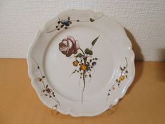 Gien Hot Sale Antique French 7 Gien Opaque Porcelain,circa 1900,model With Flowers A Wide Selection Of Colours And Designs